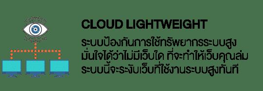 Cloud Lightweight ระบบป้องกันการใช้ทรัพยากรระบบสูง มั่นใจได้ว่าไม่มีเว็บใด ที่จะทำให้เว็บคุณล่ม ระบบนี้จะระงับเว็บที่ใช้งานระบบสูงทันที