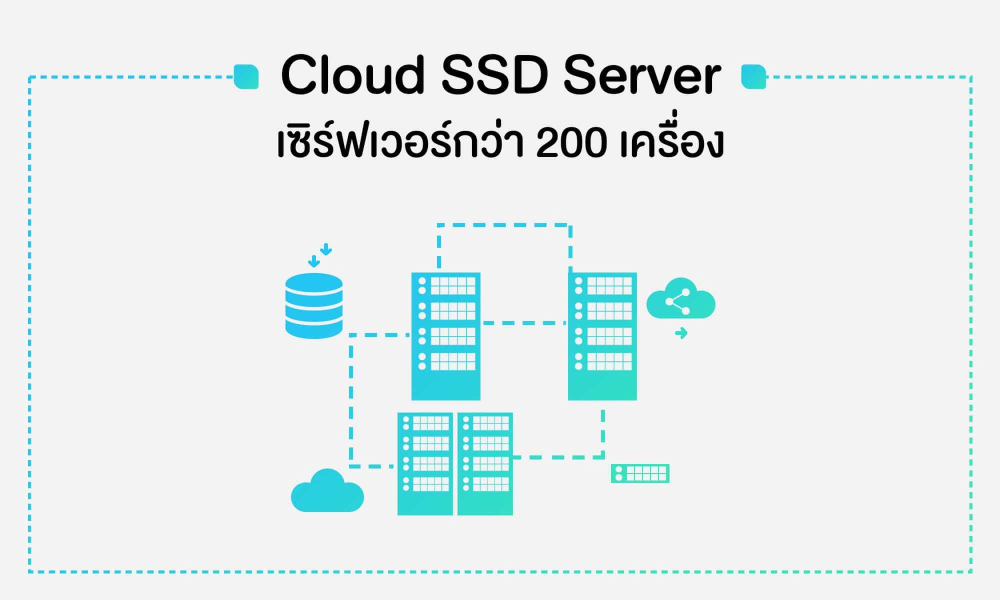 ให้บริการด้วย SSD เซิร์ฟเวอร์กว่า 200 เครื่อง ประสานทำงานร่วมกัน ไม่มีล่มหากเซิร์ฟเวอร์หรืออุปกรณ์ฮาร์ดแวร์เสียหาย